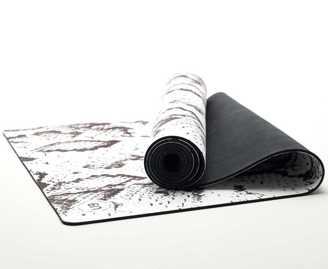 Unit Nine white python yoga mat