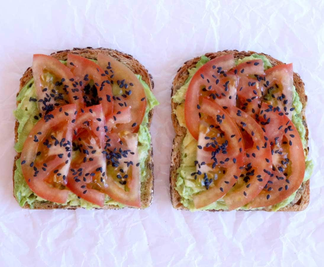 Avocado and tomato toast